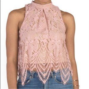 🌼2/$30🌼Nude lace mock neck top